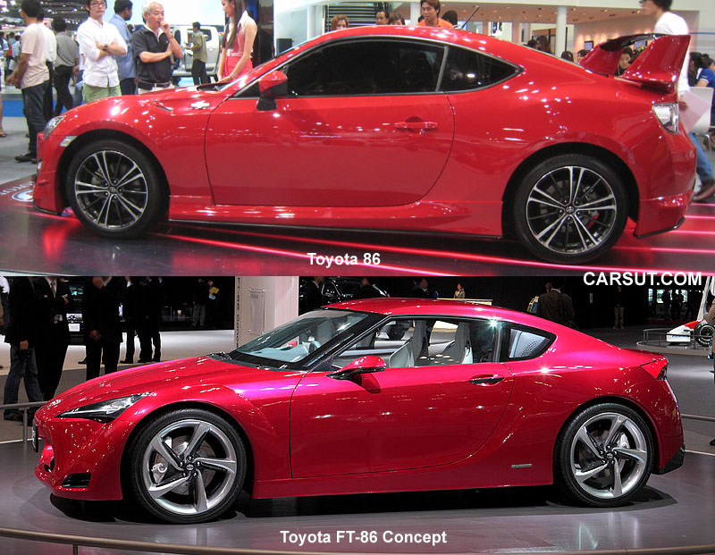 Toyota 86 and Toyota FT 86